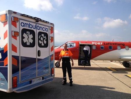 Nuestro compañero Jose Luis López, socio de Ambulàncies Catalunya