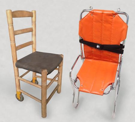 sillas traslado pacientes ambulancia