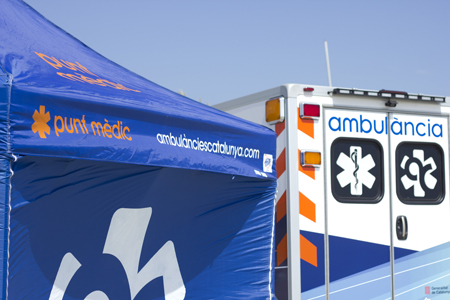 Transporte sanitario para eventos de Ambulàncies Catalunya
