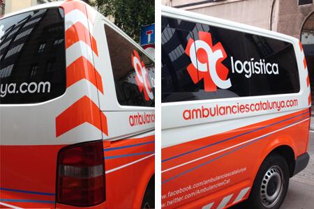 Vehículo de logística de Ambulàncies Catalunya