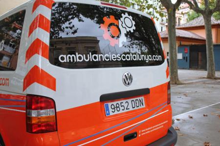 Nuevo vehículo de logística de Ambulàncies Catalunya