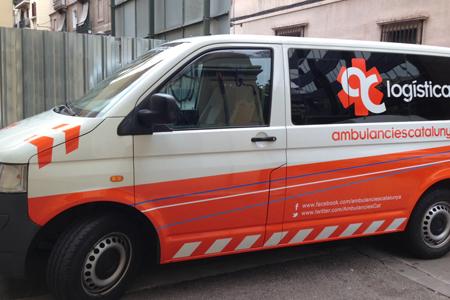 Unidad de logística de Ambulàncies Catalunya