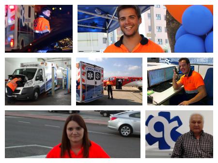 los compañeros de la cooperativa Ambulàncies Catalunya hablan en La voz del mes
