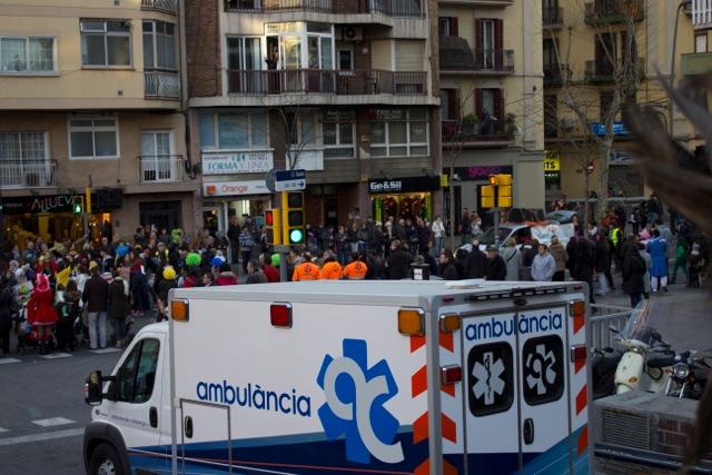 ambulàncies catalunya en el Carnaval de Sants 2014