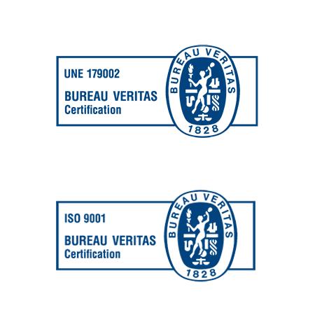 certificados calidad ISO 9001 UNE 179002:2011.