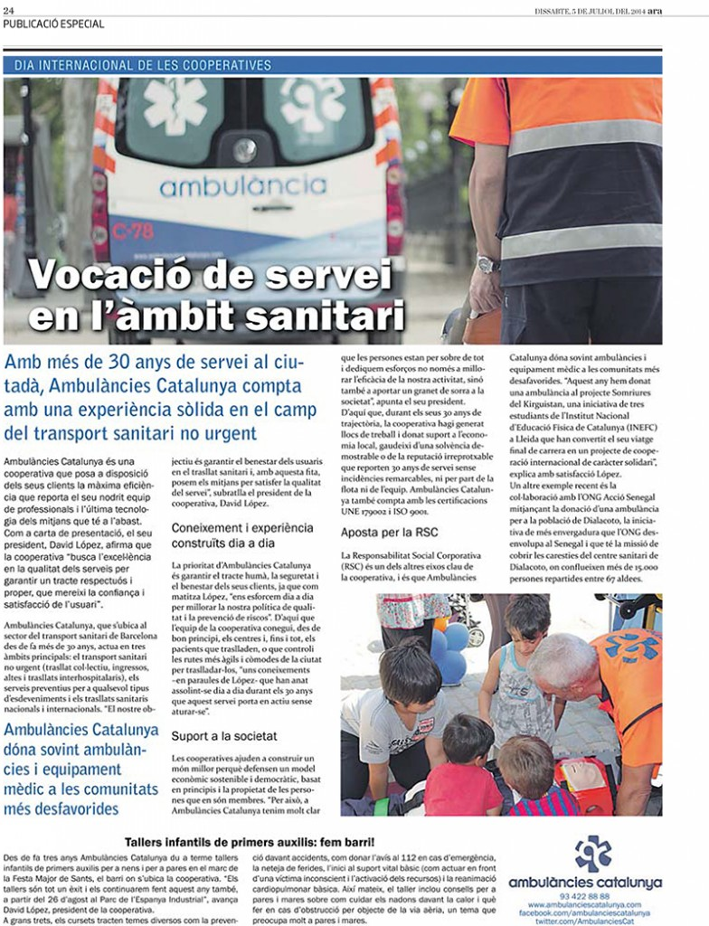 ambulancies catalunya cooperativa