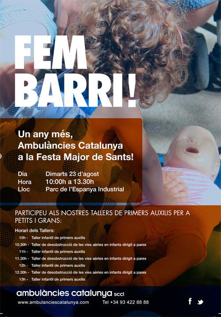 ambulàncies catalunya a la festa major de sants