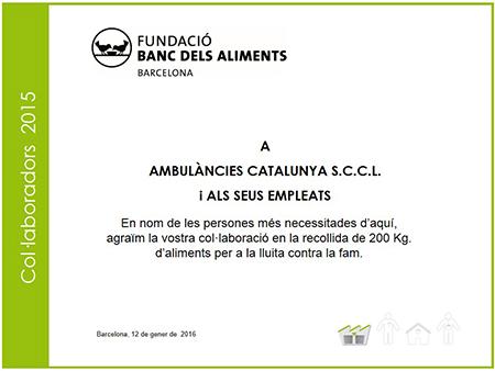 ambulancies catalunya gran recapte aliments