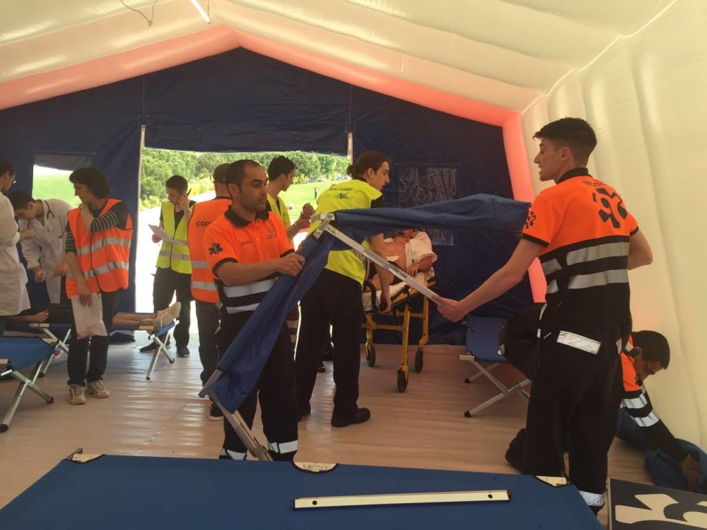 ambulàncies catalunya simulacro IMV